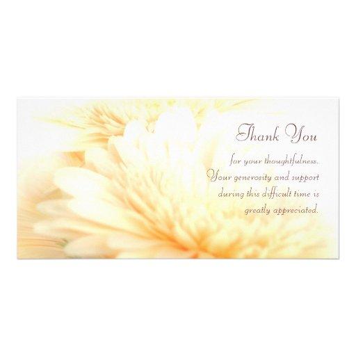 La condolencia le agradece tarjetas fotográficas personalizadas