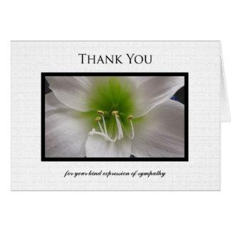 La condolencia le agradece tarjeta de nota -