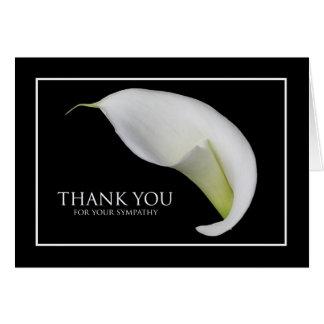 La condolencia le agradece tarjeta de nota