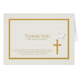 La condolencia le agradece tarjeta de nota -- Cris