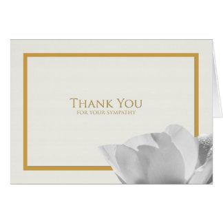 La condolencia le agradece tarjeta de nota -- Tuli