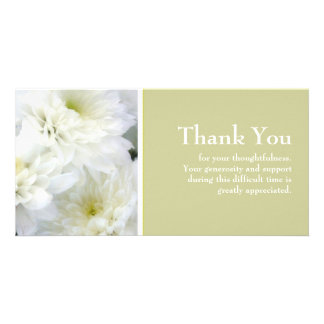 La condolencia le agradece tarjeta fotografica