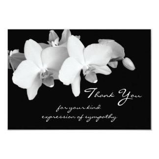 La condolencia le agradece tarjeta plana - comunicado