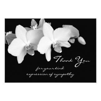 La condolencia le agradece tarjeta plana - orquíde comunicado