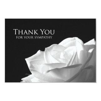 La condolencia le agradece tarjeta plana - rosa invitación