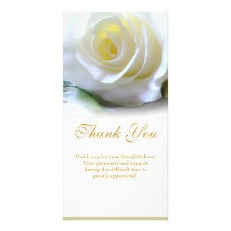 La condolencia le agradece tarjetas fotográficas