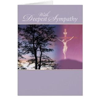 La condolencia más profunda, religiosa tarjeta de felicitación