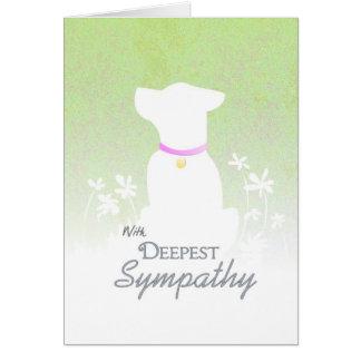 La condolencia más profunda - tarjeta de condolenc