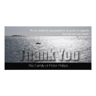 La condolencia moderna del paisaje marino 2 le tarjeta fotográfica