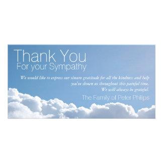 La condolencia pacífica del cielo 2 le agradece tarjeta fotografica