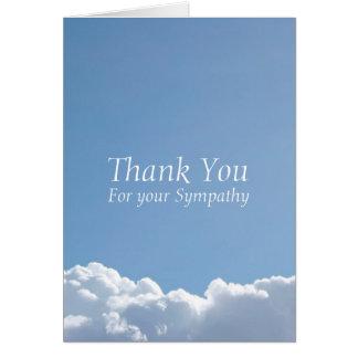 La condolencia pacífica del cielo 3 le agradece tarjeta pequeña