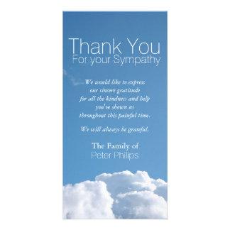 La condolencia pacífica del cielo V1 le agradece Tarjeta Personal Con Foto