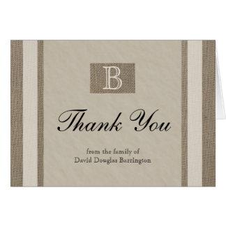 La condolencia personalizada le agradece las tarjeta pequeña