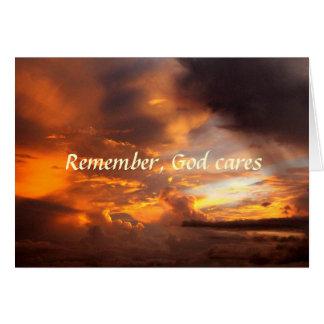 La condolencia recuerda la tarjeta de la puesta de