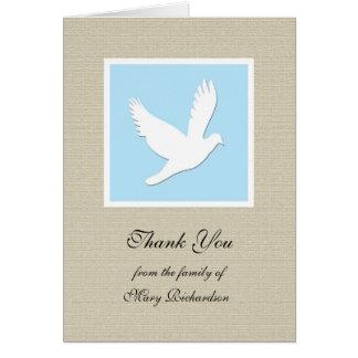 La condolencia religiosa le agradece tarjeta de