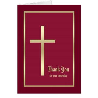 La condolencia religiosa le agradece tarjeta de no