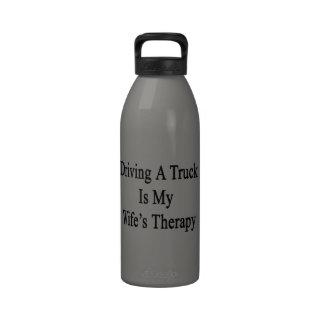 La conducción de un camión es la terapia de mi esp botella de beber
