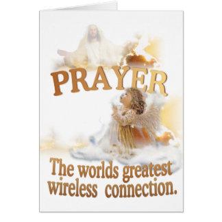 La conexión inalámbrica más grande de los mundos tarjeta de felicitación