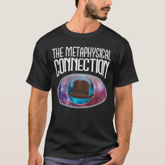 La conexión metafísica en negro playera