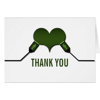 La conexión USB del amor le agradece cardar, poner Felicitaciones