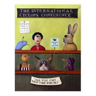 La conferencia internacional de los Cyclops Tarjetas Postales