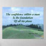 La confianza dentro del hombre posters