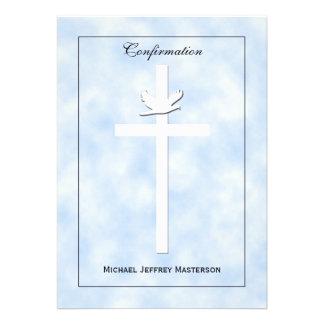 La confirmación invita - la paloma y la cruz en az