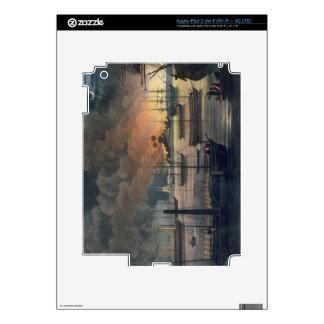 La conflagración de Dalla en el río de Rangoon, p Pegatinas Skins Para iPad 3