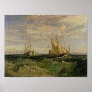 La confluencia del Thames y del Medway Póster