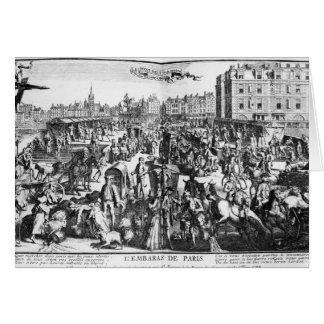 La congestión en París Tarjeta De Felicitación