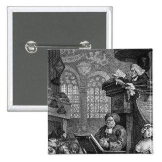 La congregación durmiente, 1736 pin cuadrada 5 cm