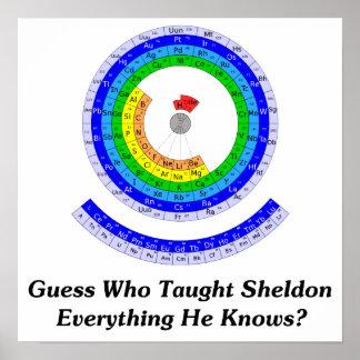 ¿La conjetura quién enseñó Sheldon todo él sabe? Póster