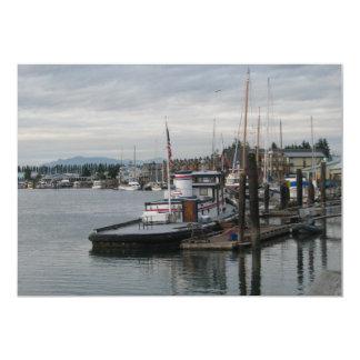La Conner Barge 5x7 Paper Invitation Card