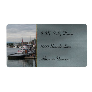 La Conner Barge Label
