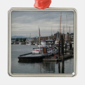 La Conner Barge Metal Ornament