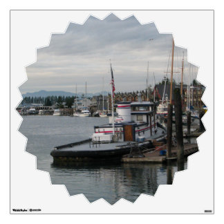 La Conner Barge Wall Decal