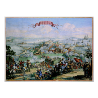 La conquista danesa de Kristianstadt 1675 Póster