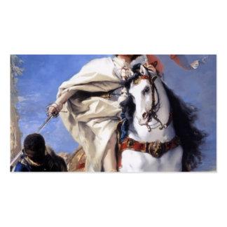 La conquista de Juan Tiepolo- San Jaime amarra Plantilla De Tarjeta De Negocio