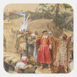La conquista de las nuevas regiones en Rusia, 1904 Pegatina Cuadrada