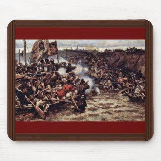 La conquista de Siberia por Yermak de Surikow Wass Alfombrilla De Ratón