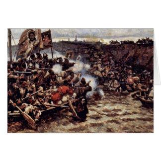 La conquista de Siberia por Yermak de Surikow Wass Tarjeta