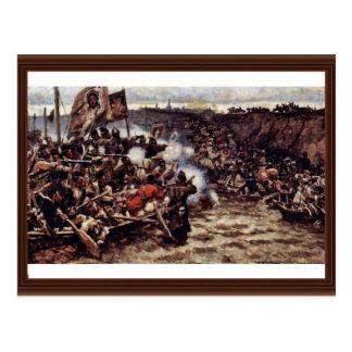 La conquista de Siberia por Yermak de Surikow Wass Tarjetas Postales