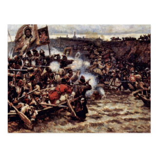 La conquista de Siberia por Yermak de Surikow Wass Postales