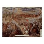 La conquista de Tenochtitlan Postal