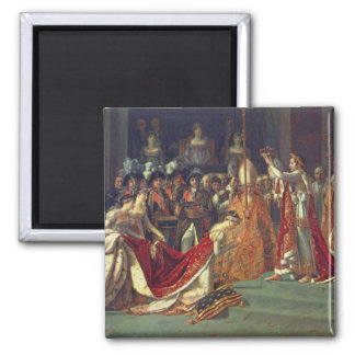 La consagración del emperador Napoleon 1 Imán Cuadrado