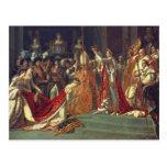 La consagración del emperador Napoleon 1 Postal