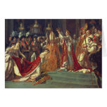 La consagración del emperador Napoleon 1 Tarjeta De Felicitación