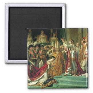 La consagración del emperador Napoleon Imanes De Nevera