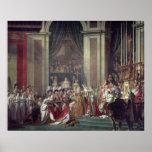 La consagración del emperador Napoleon Poster