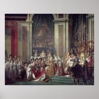 La consagración del emperador Napoleon Póster